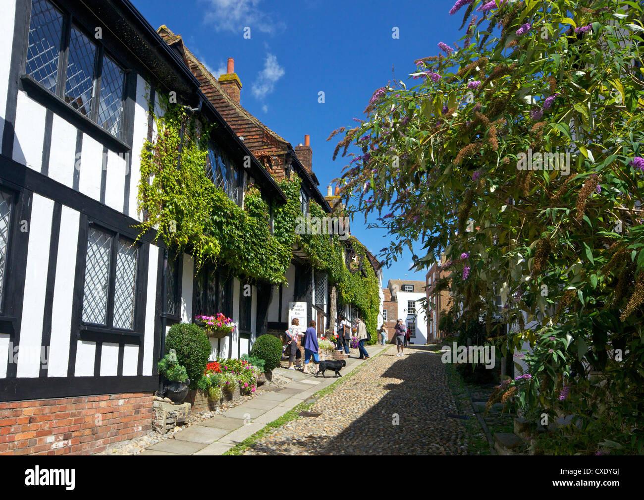 The Mermaid Inn, Mermaid Street, Rye, East Sussex, England, United Kingdom, Europe - Stock Image