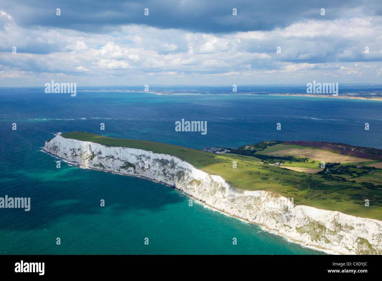 Aerial view of the Needles, Isle of Wight, England, United Kingdom, Europe Stock Photo