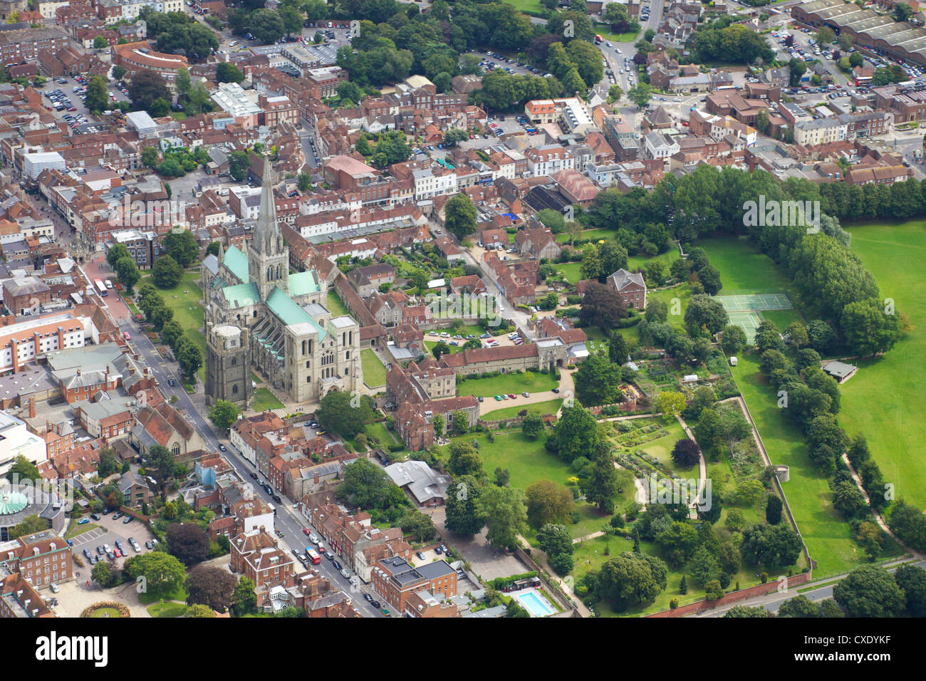 Aerial View West Sussex Stock Photos & Aerial View West
