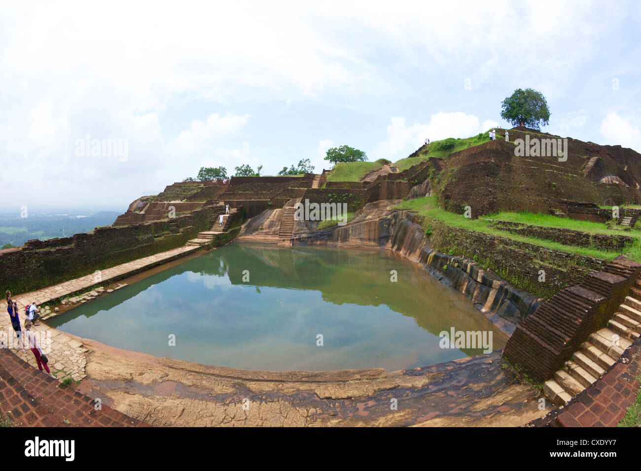 Royal Bathing Pool, Sigiriya Lion Rock Fortress,  5th century AD, UNESCO World Heritage Site,  Sigiriya, Sri Lanka, - Stock Image