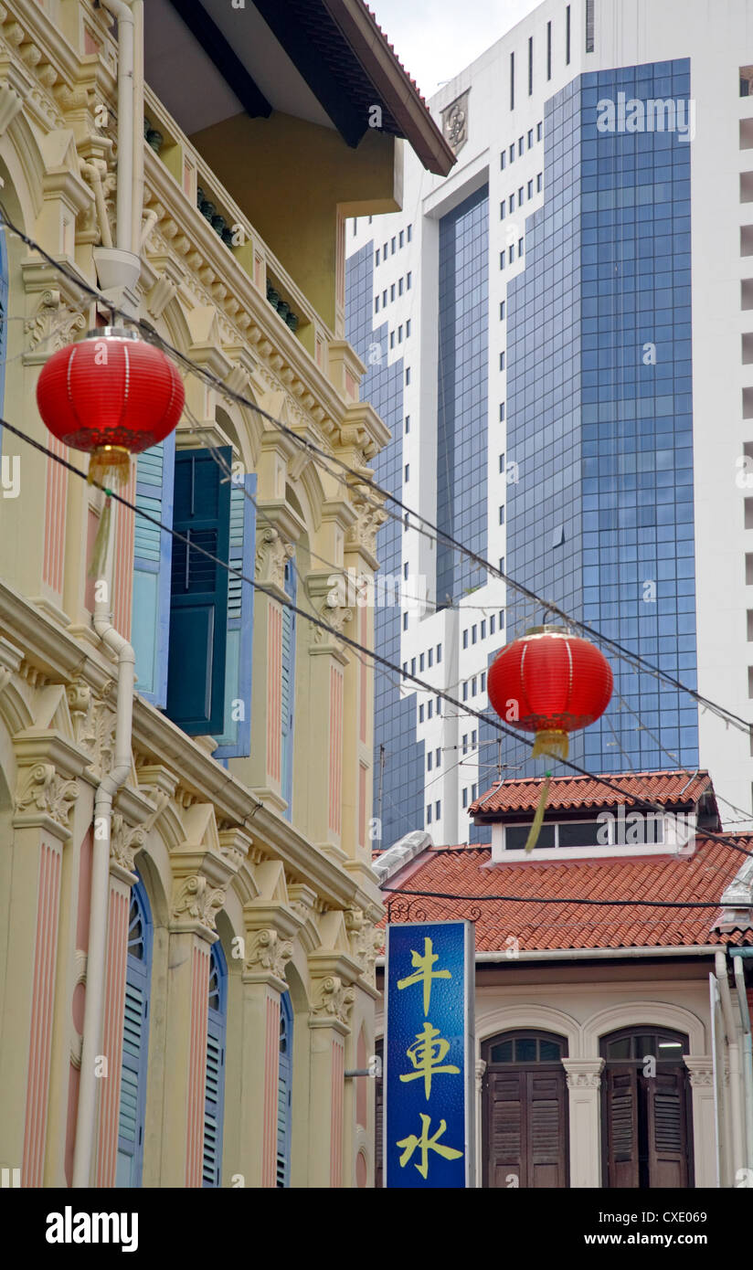 Singapore, tradition and modernity - Stock Image