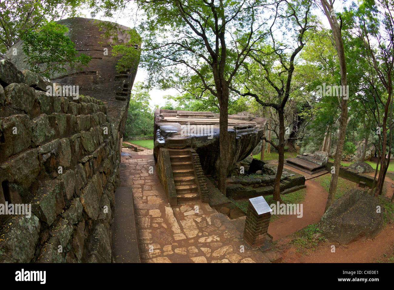 Audience Hall, Sigiriya Lion Rock Fortress, 5th century AD, UNESCO World Heritage Site, Sigiriya, Sri Lanka, Asia - Stock Image