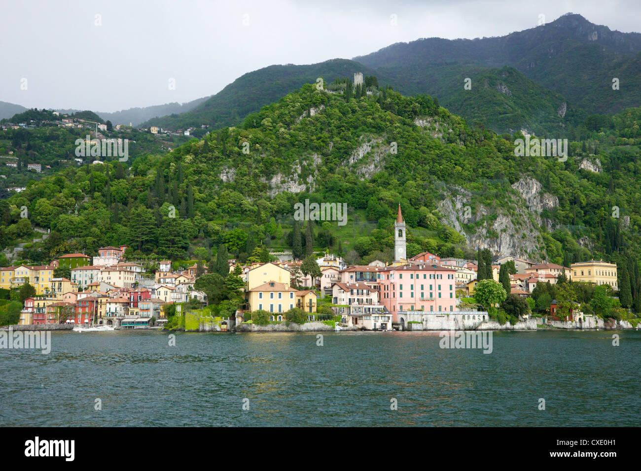 View of Varenna, Lake Como, Lombardy, Italian Lakes, Italy, Europe - Stock Image