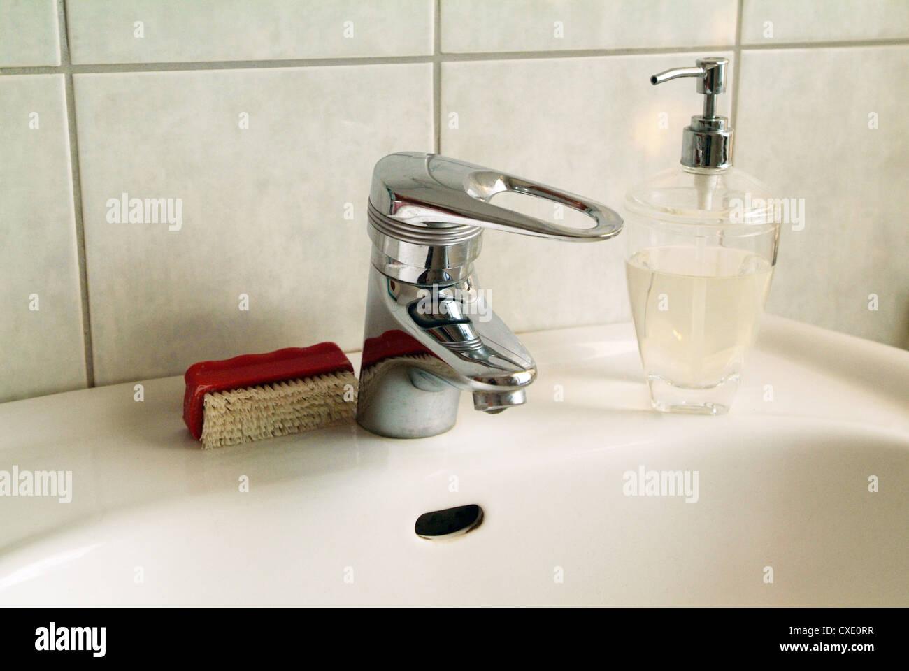 Hamburg sink in a bathroom Stock Photo