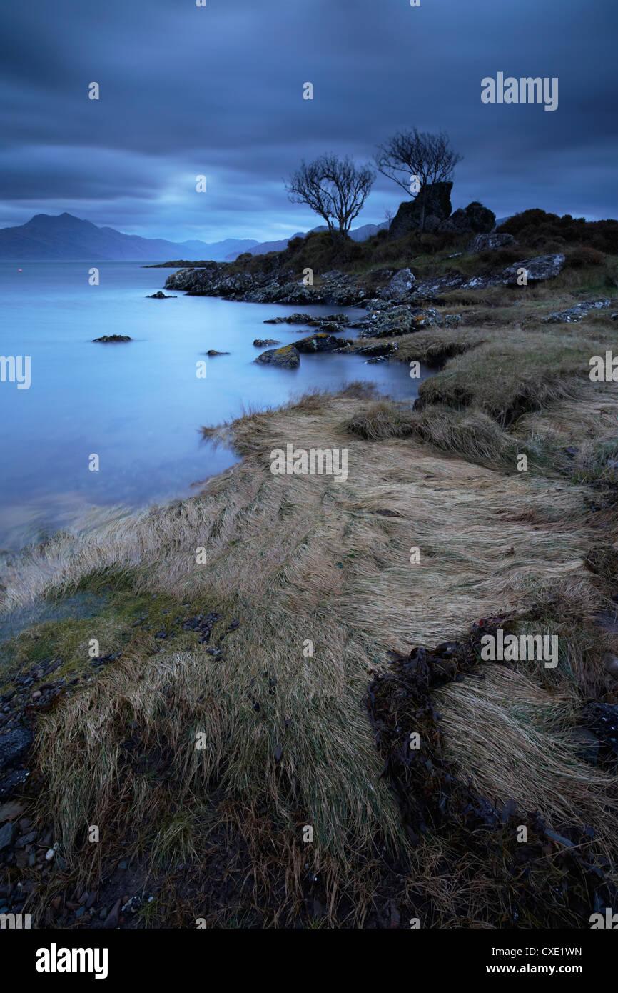 Towards the Scottish mainland from Camascross, Isle of Skye, Scotland - Stock Image