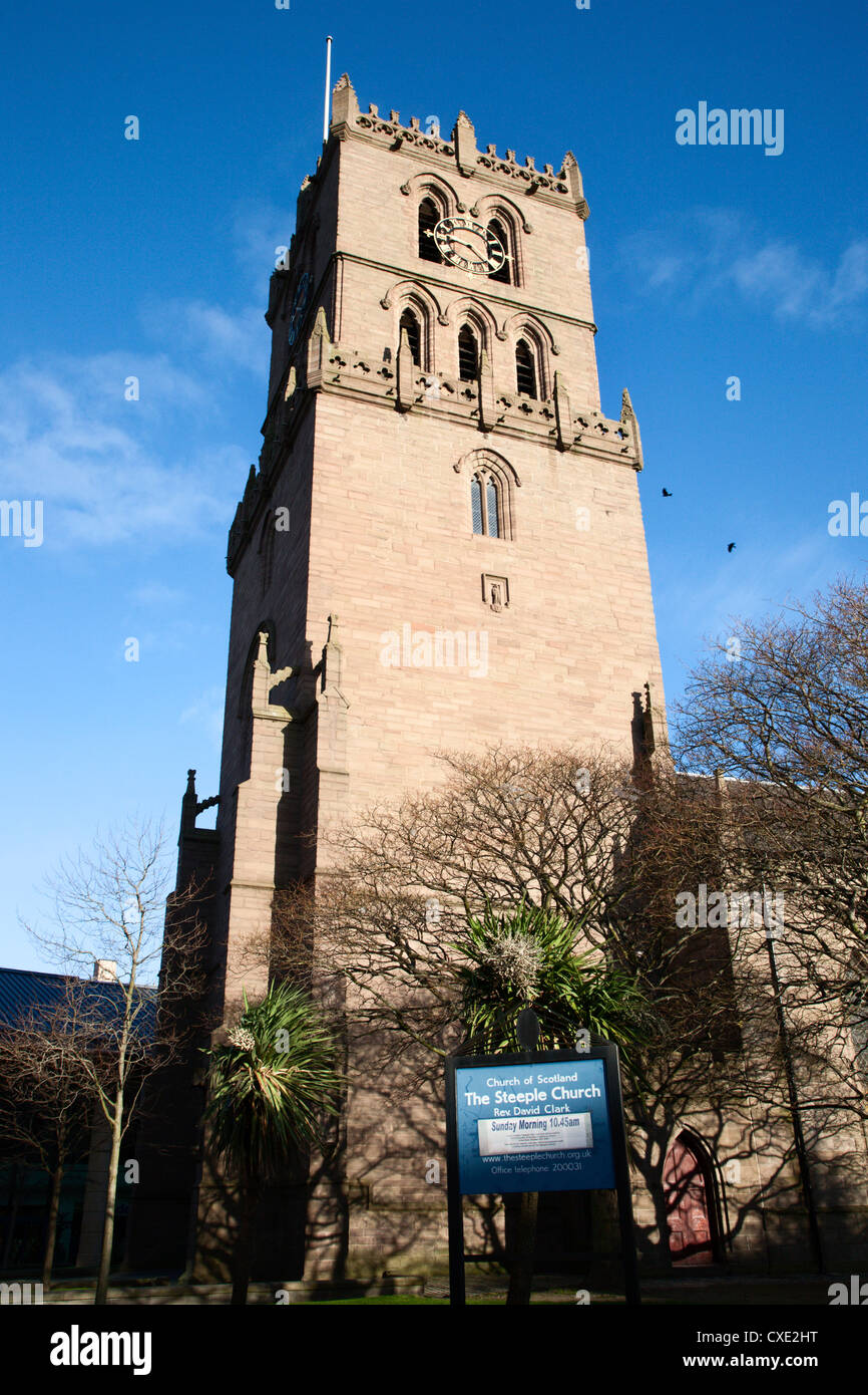 The Steeple Church, Dundee, Scotland - Stock Image