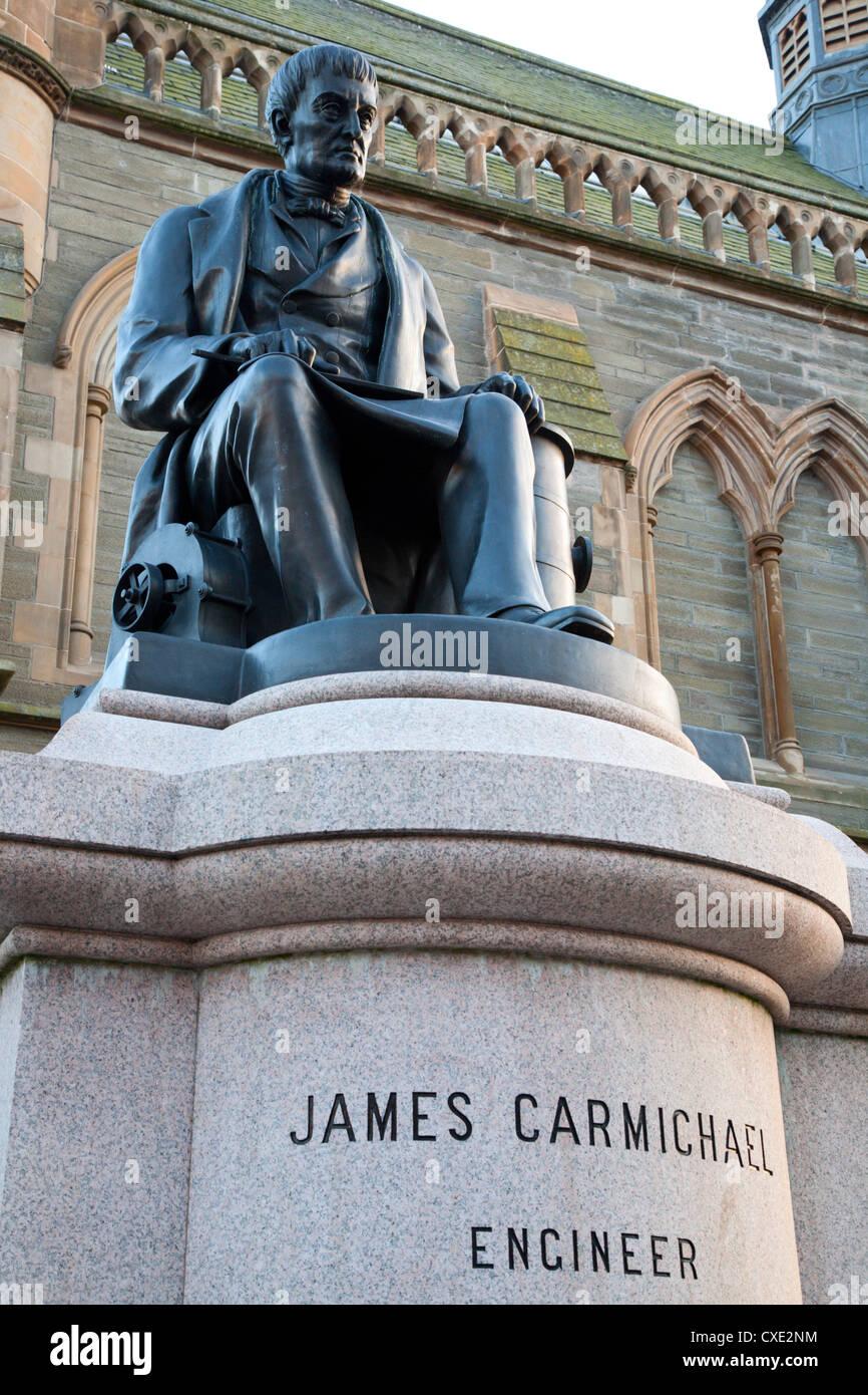 James Carmichael Statue, Albert Square, Dundee, Scotland - Stock Image