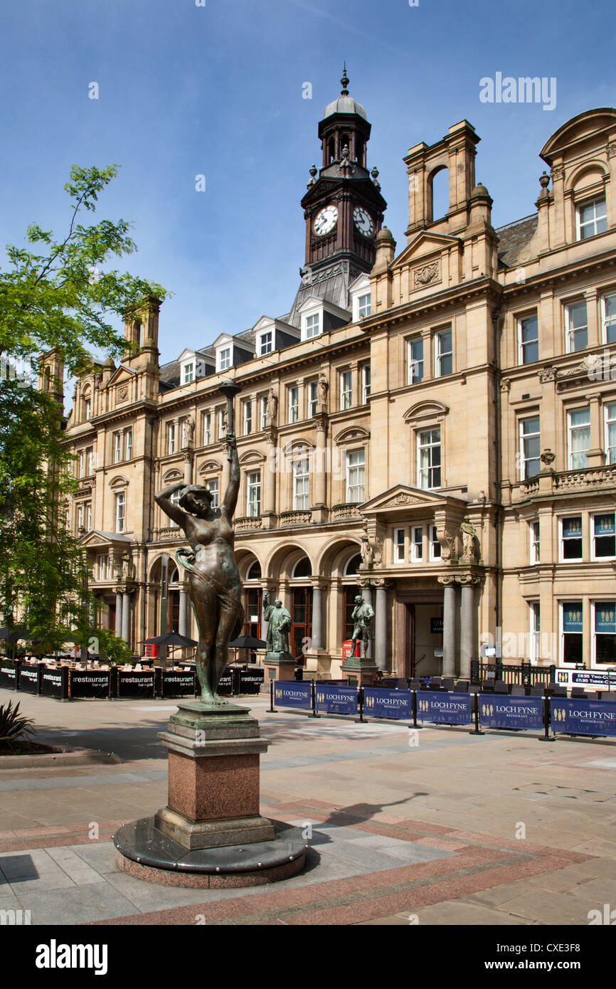 Old Post Office Building in City Square, Leeds, West Yorkshire, Yorkshire, England, United Kingdom, Europe Stock Photo