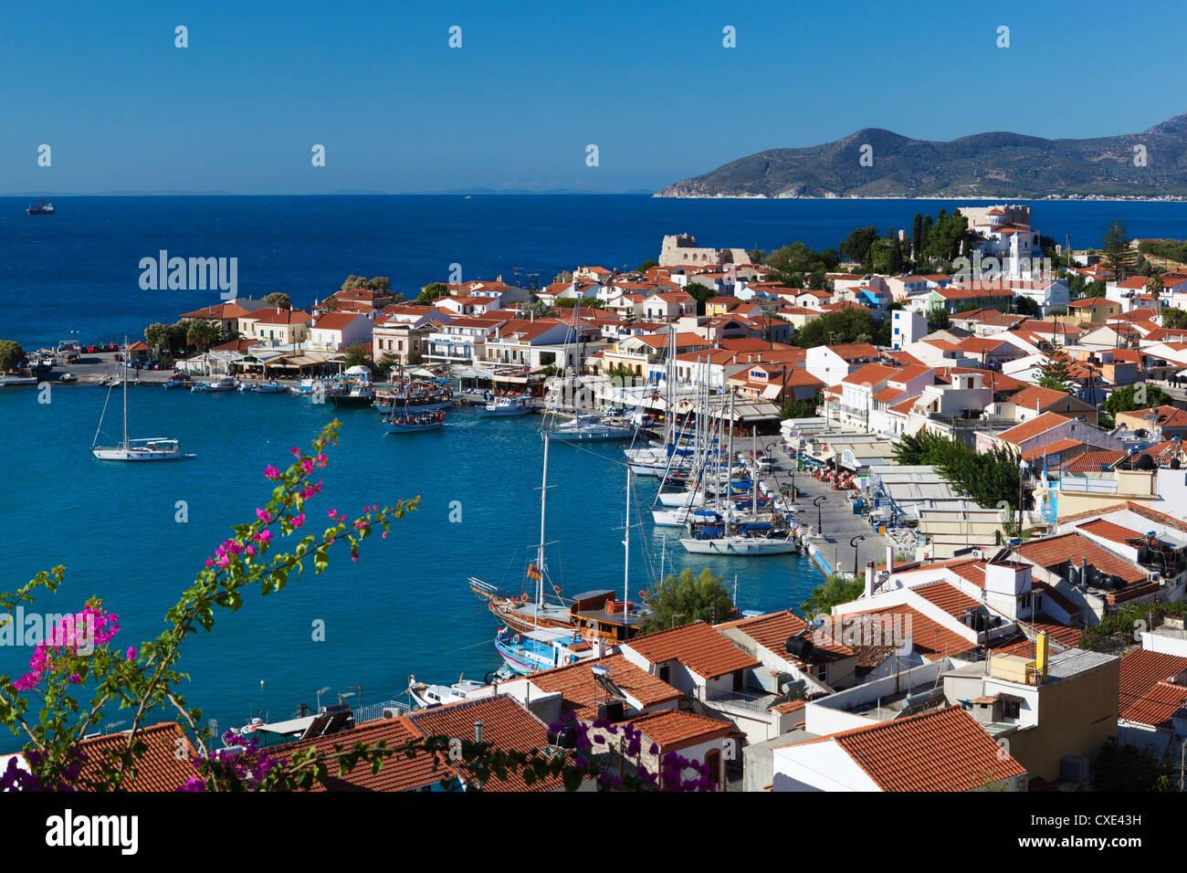 Harbour view, Pythagorion, Samos, Aegean Islands, Greece Stock Photo