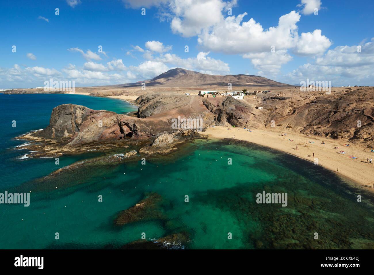 Playa del Papagayo, near Playa Blanca, Lanzarote, Canary Islands, Spain - Stock Image