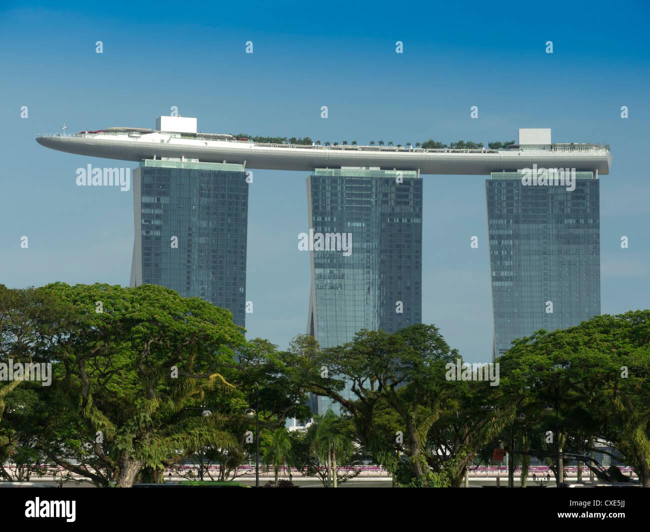 Marina bay sands Hotel, Singapore, Asia - Stock Image