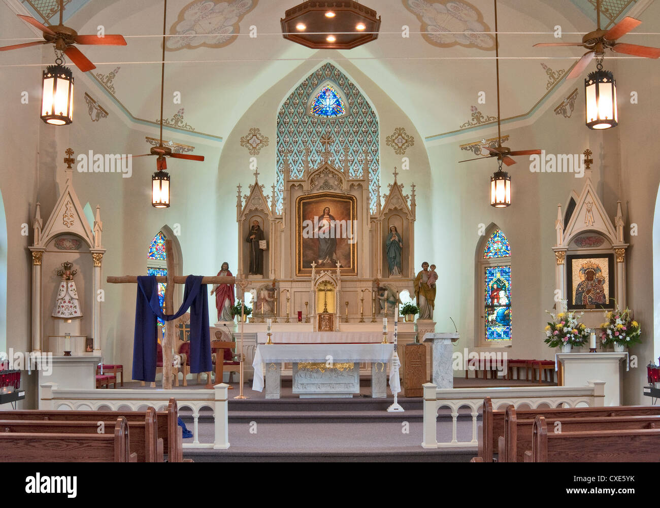 Altar at Immaculate Conception Catholic Church in Panna