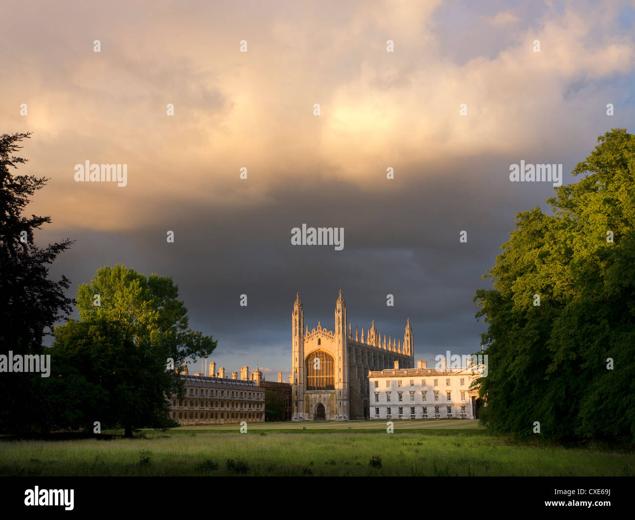 Kings College viewed from the backs, Cambridge, England, UK - Stock Image