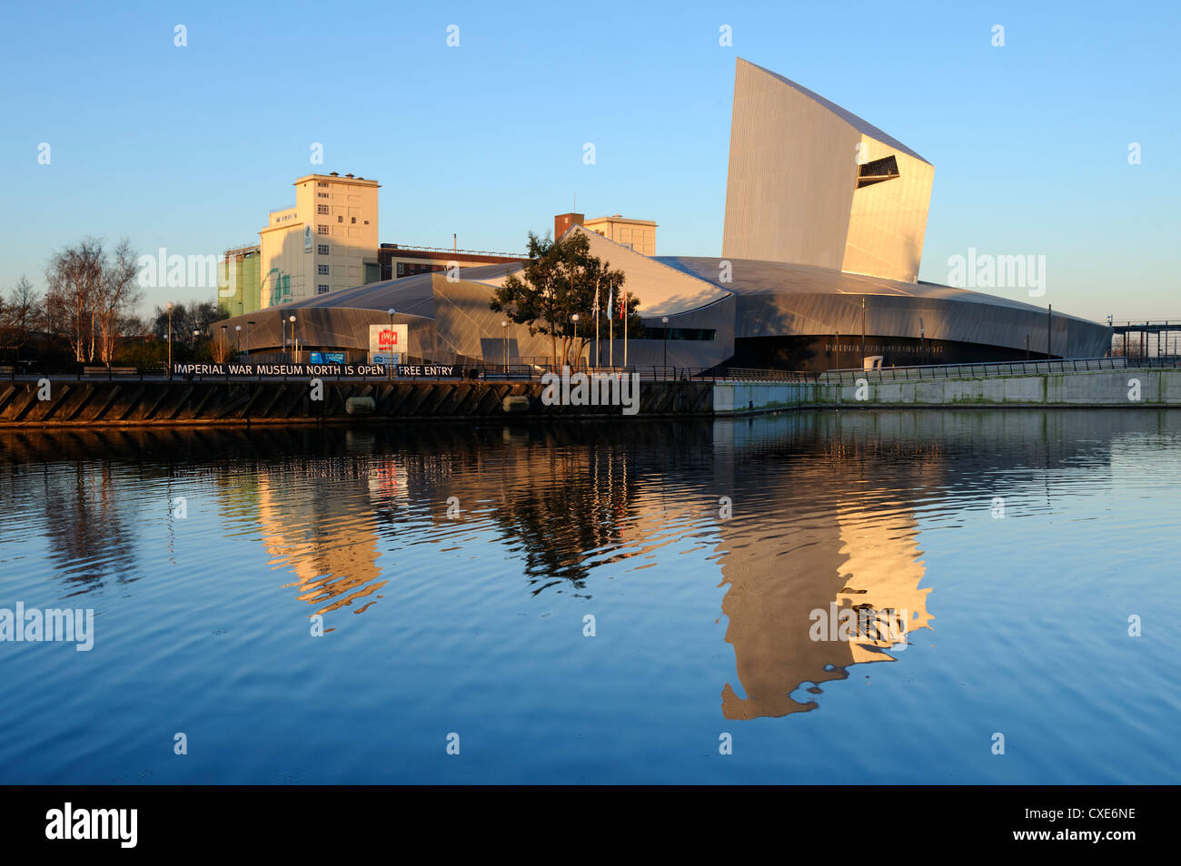 Imperial War Museum North, Salford Quays, Manchester, Greater Manchester, England, United Kingdom, Europe - Stock Image