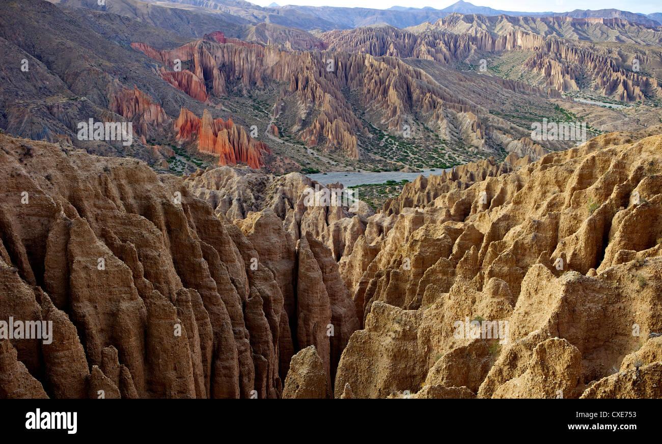 Valleys of Cordillera de Chichas Range, near the town of Tupiza, Bolivia, South America - Stock Image
