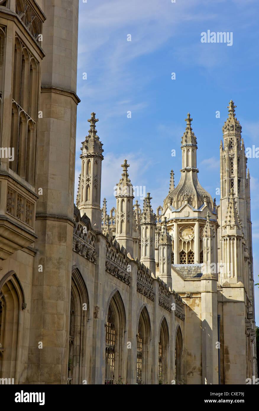 Kings College Chapel, University of Cambridge, Cambridge, England - Stock Image