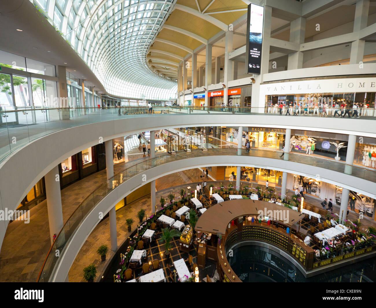 Marina Bay Sands Shopping Mall, Singapore, Asia - Stock Image