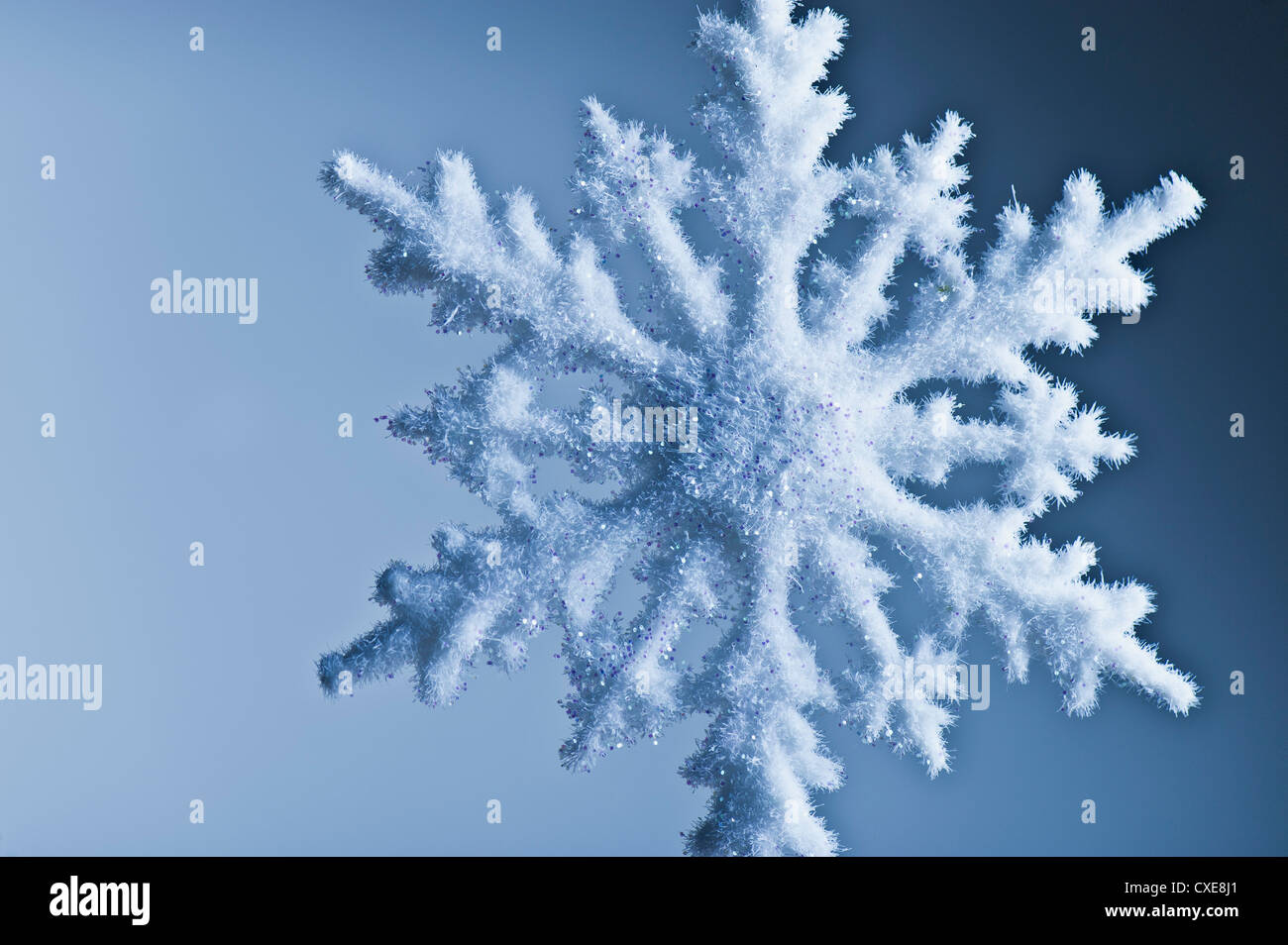 Snowflake decoration - Stock Image