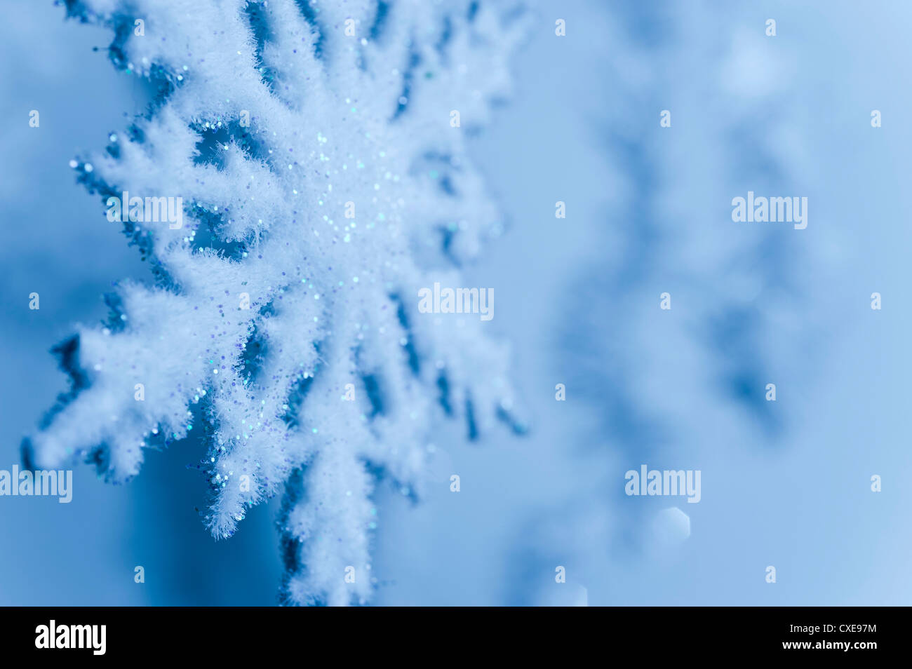 Snowflake decoration - Stock Image