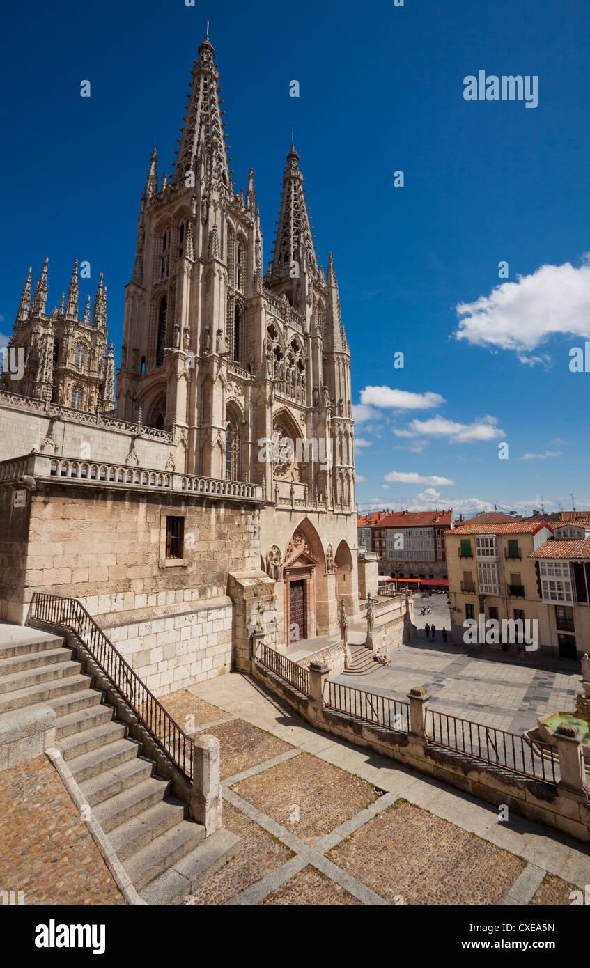 Burgos Cathedral, Burgos, Castilla y Leon, Spain, Europe - Stock Image