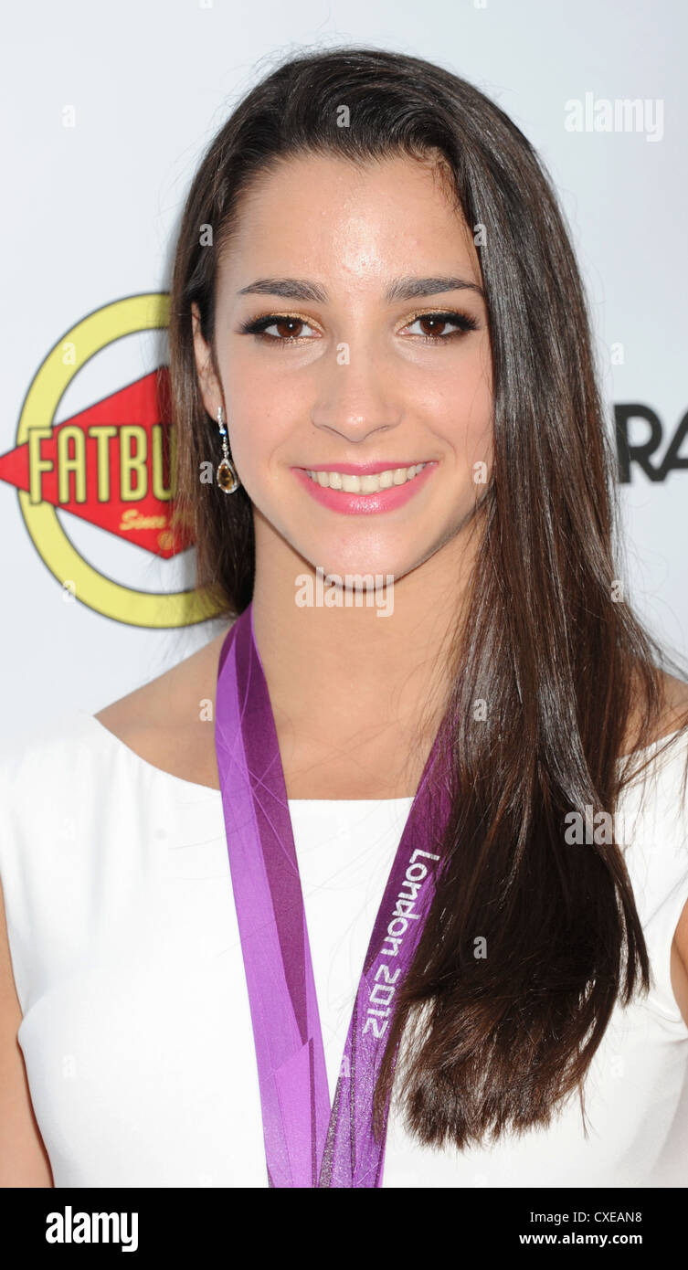 ALEXANDRA 'ALY' RAISMAN American Artistic Gymnast with her 2012 Olympic Medal in September 2012. Photo Jeffrey - Stock Image