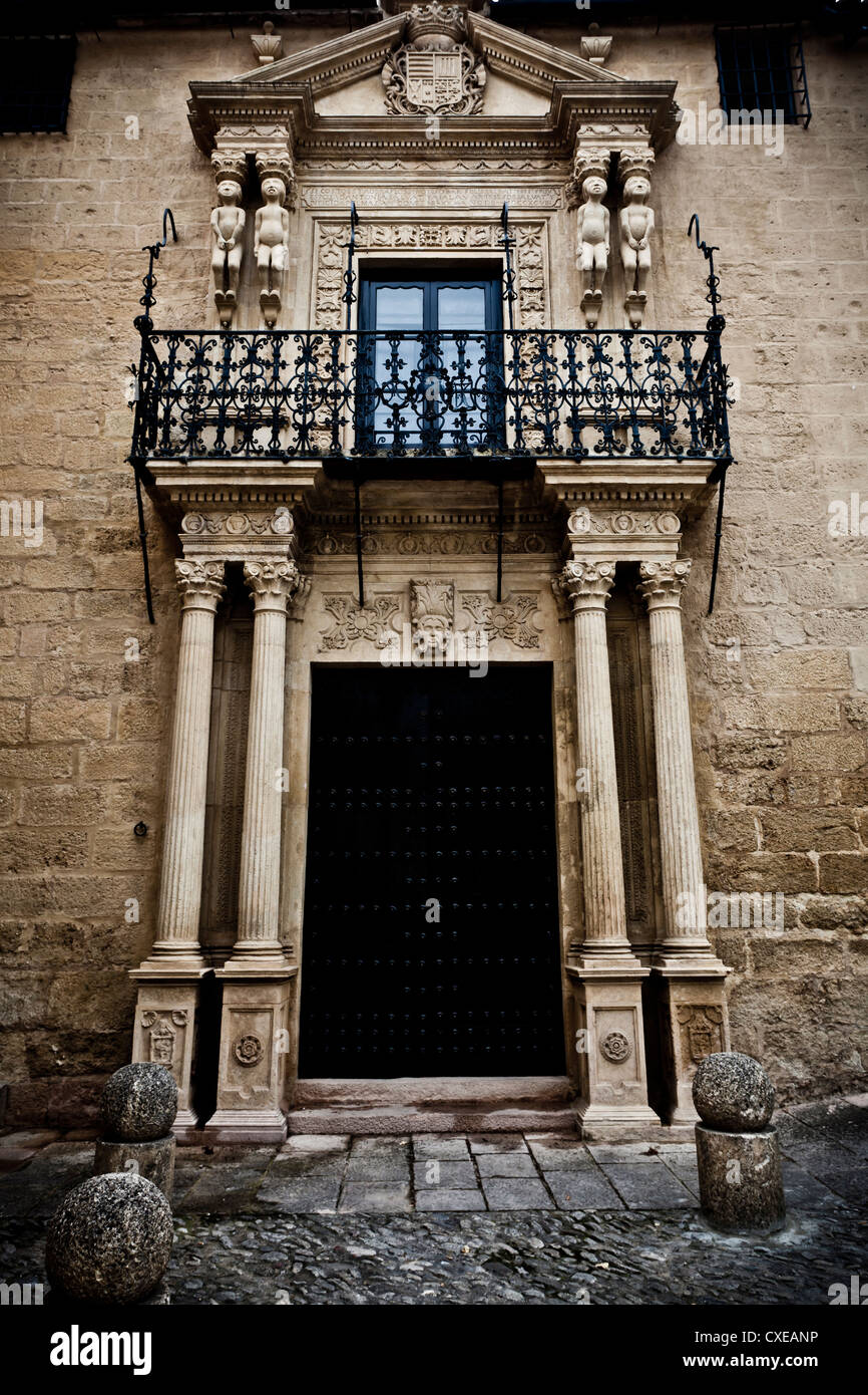 Elaborate doorway, Ronda, Andalucia, Spain, Europe - Stock Image
