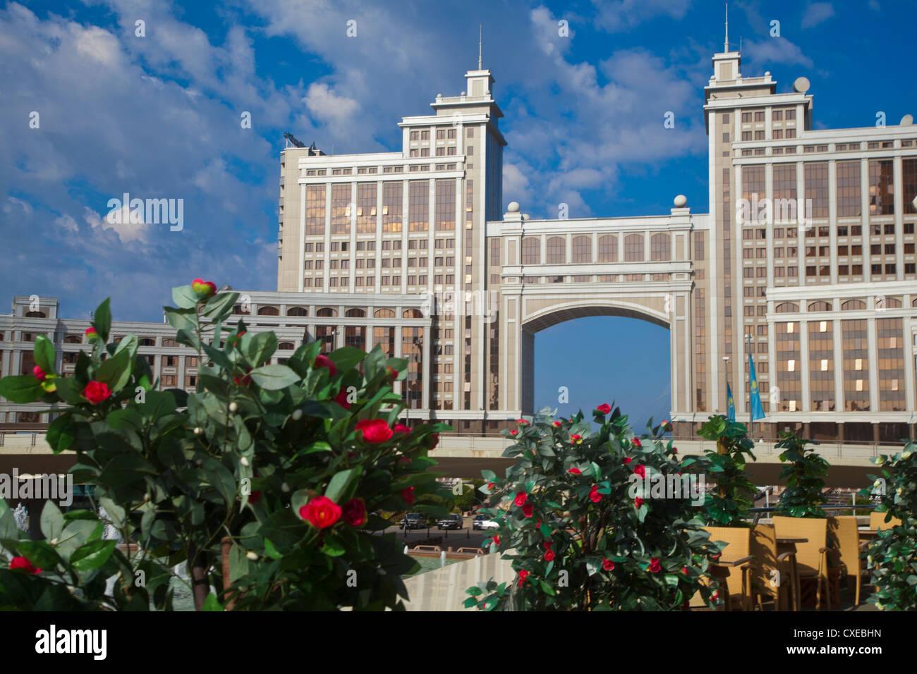 KazMunaiGas building home to the Oil and Gas Ministry, Astana, Kazakhstan, Central Asia, Asia Stock Photo