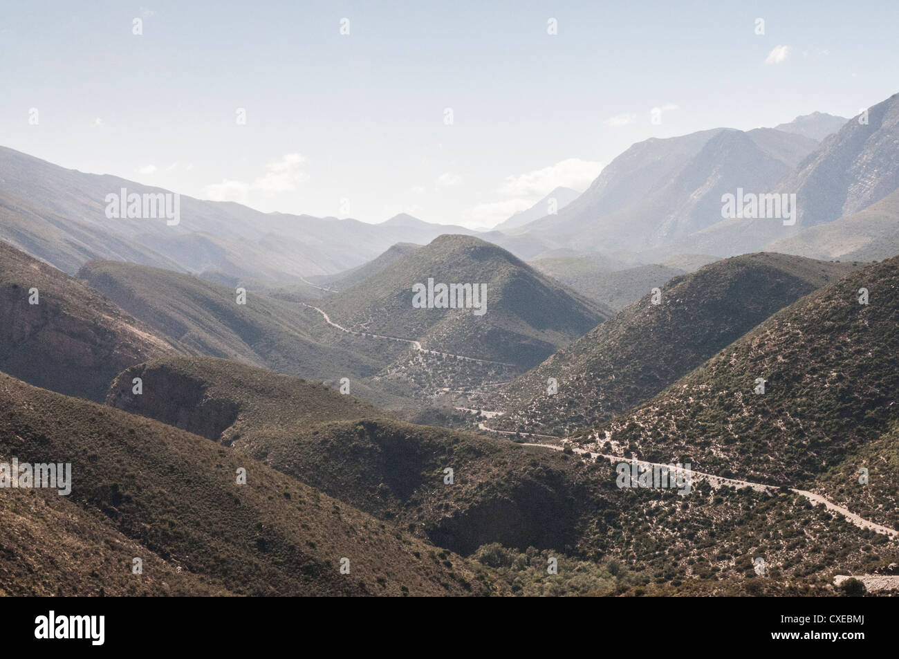The Hell, South Africa, Gamkaskloof, Swartberg reserve, valley, Oudtshoorn district between the Great and Klein - Stock Image