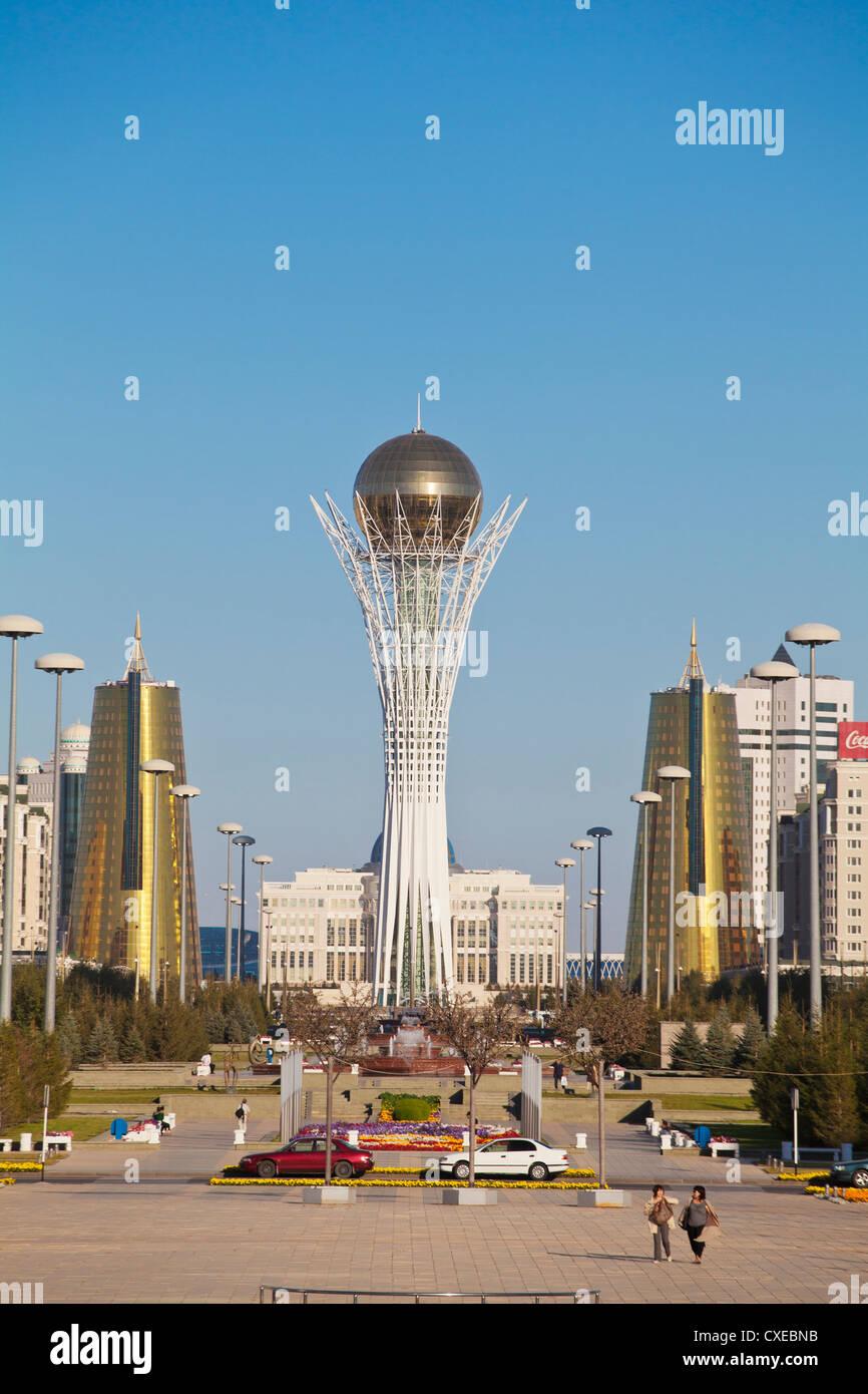 Bayterek Tower, Astana, Kazakhstan, Central Asia, Asia - Stock Image