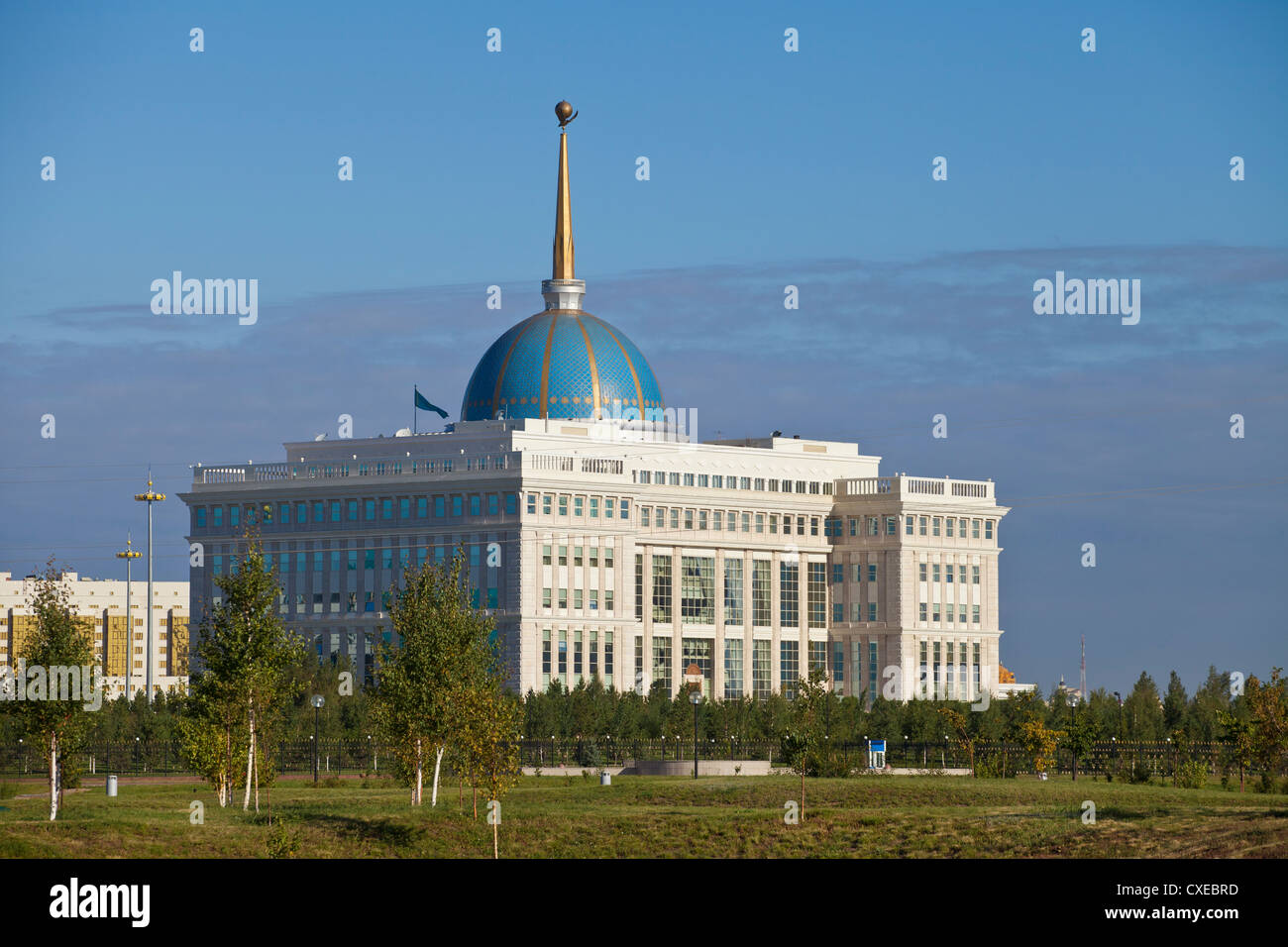 The Ak Orda, Presidential Palace of President Nursultan Nazarbayev, Astana, Kazakhstan, Central Asia, Asia - Stock Image