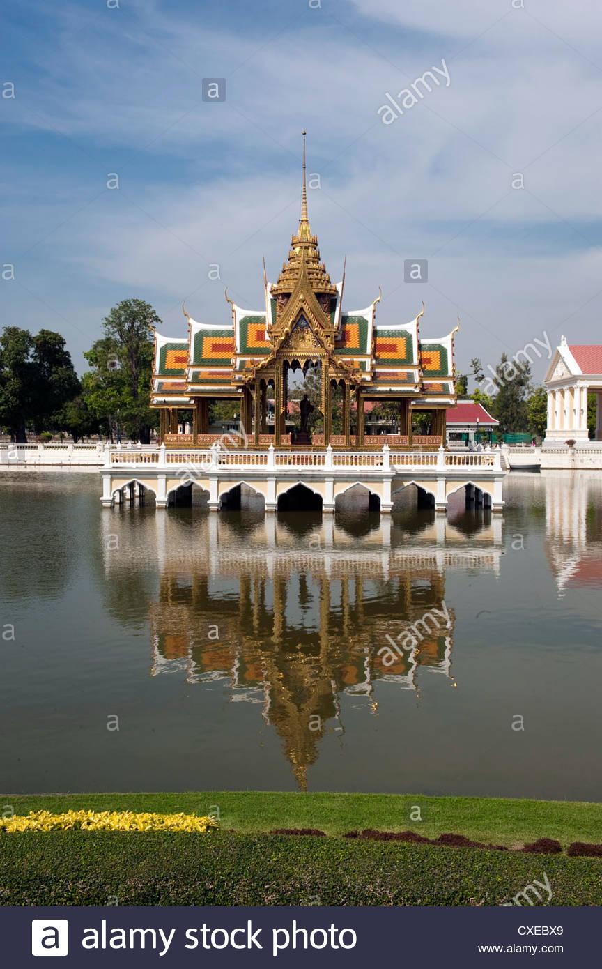 Bang Pa-In Royal Palace, near Ayutthaya, Thailand, Southeast Asia, Asia - Stock Image