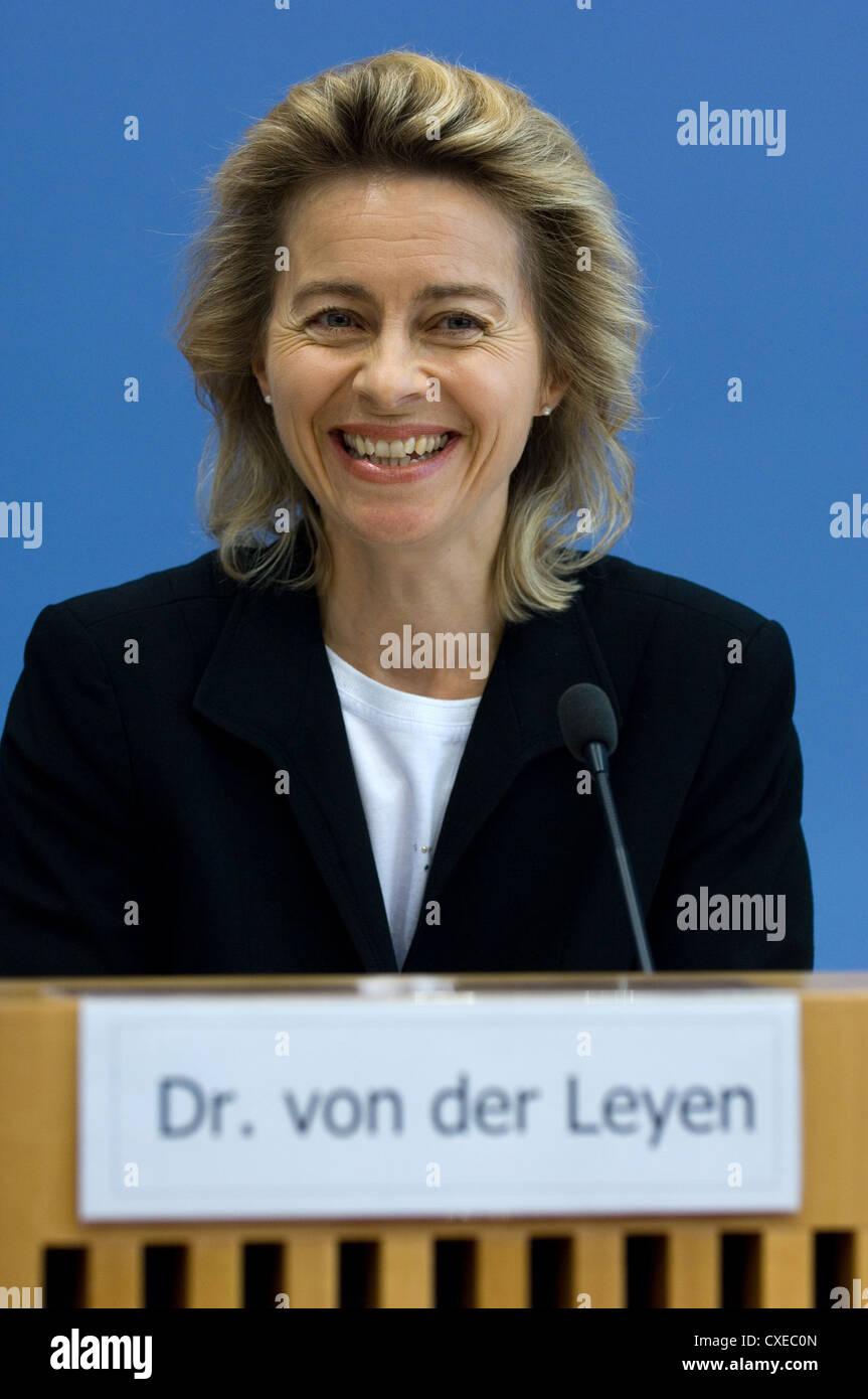 Berlin, Ursula von der Leyen (CDU) - Stock Image