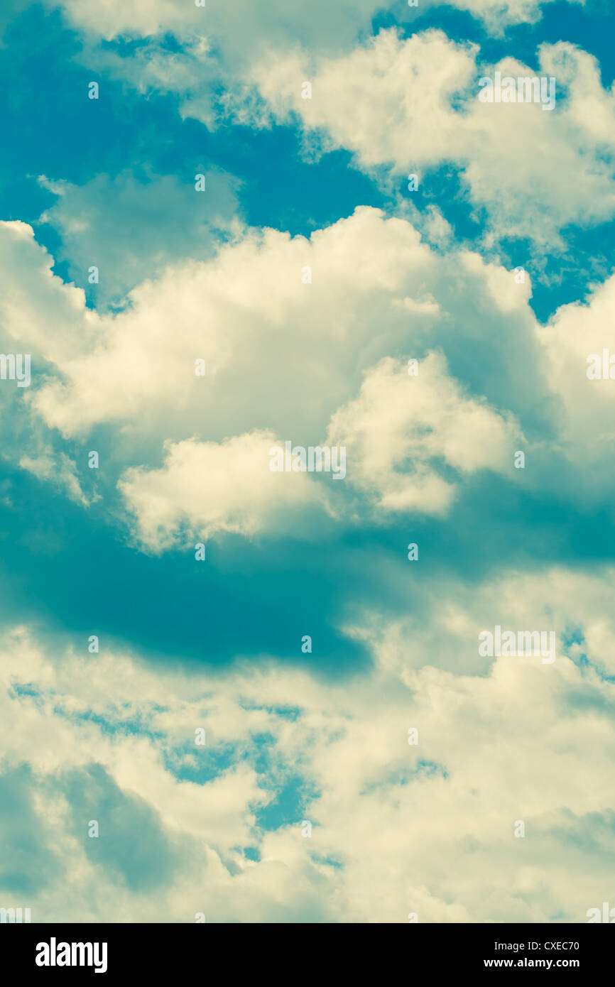 Some cross processed clouds. - Stock Image