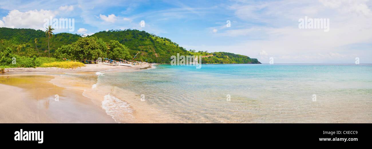 Nippah Beach on Lombok, a tropical Island in West Nusa Tenggara, Indonesia, Southeast Asia, Asia - Stock Image