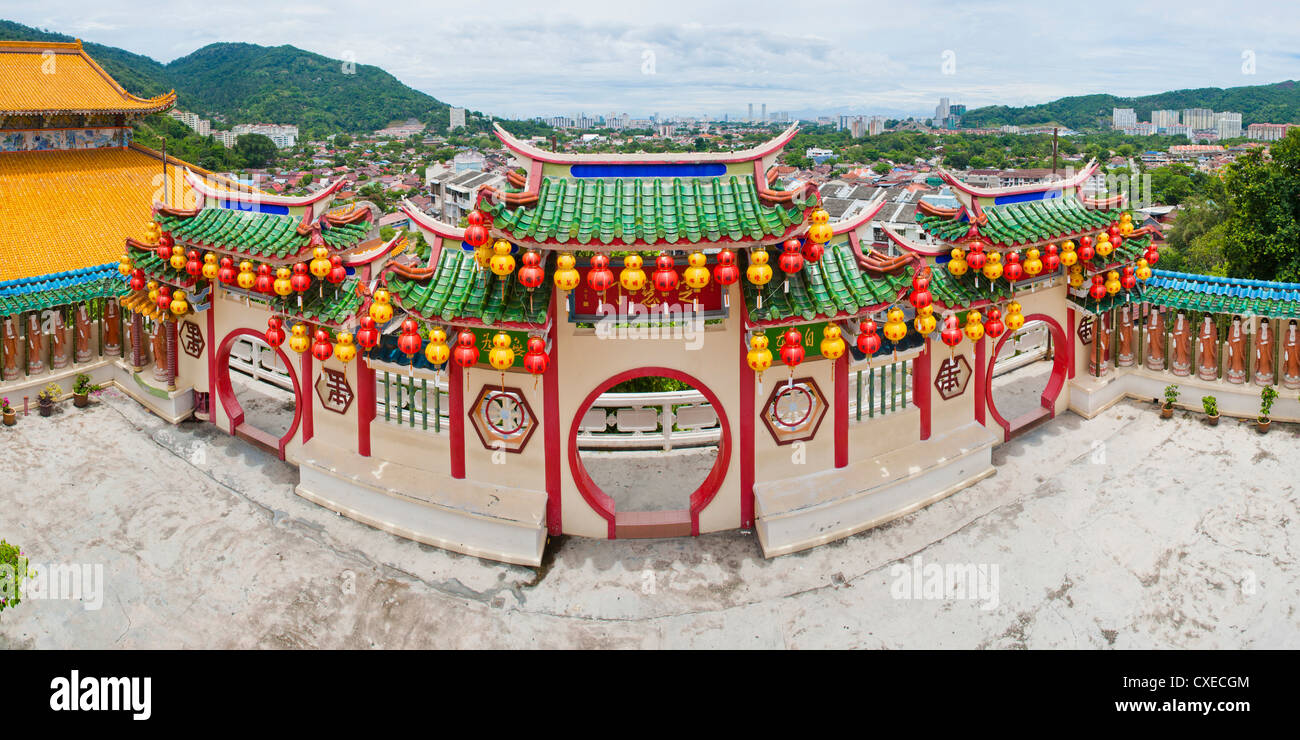 View over Georgetown from Kek Lok Si Temple, Penang, Malaysia, Southeast Asia, Asia - Stock Image