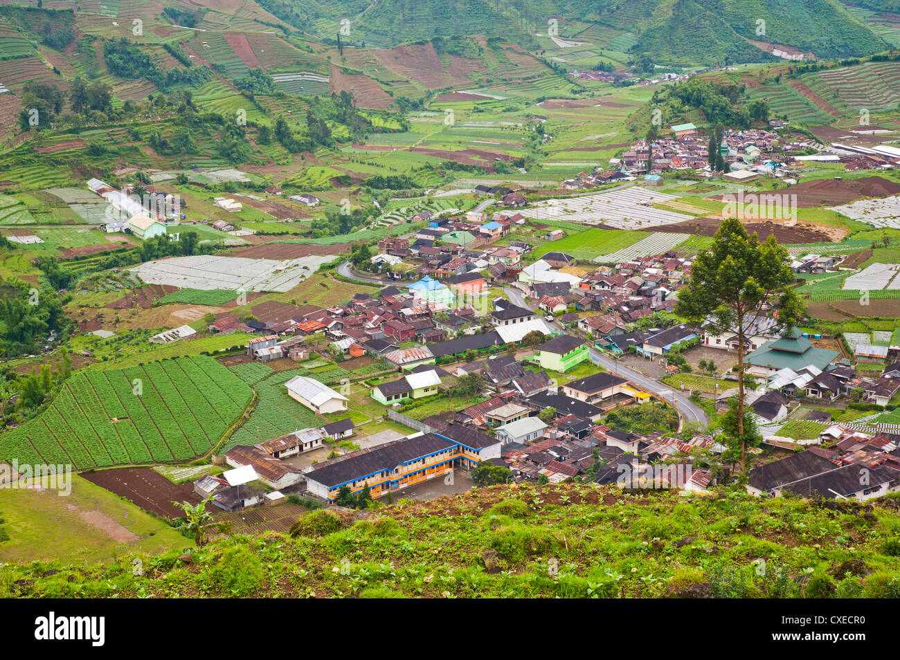 Wonosobo town, Dieng Plateau, Central Java, Indonesia, Southeast Asia, Asia - Stock Image
