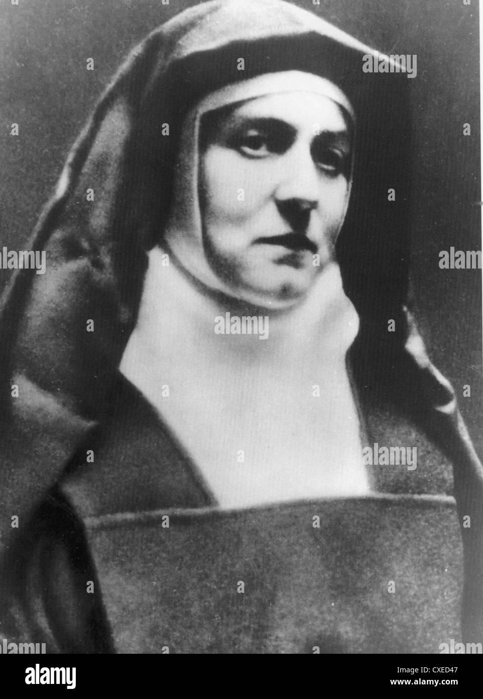 EDITH STEIN aka Saint Teresia Benedicta of the Cross (1891-1942) German Roman Catholic philosopher and martyr - Stock Image