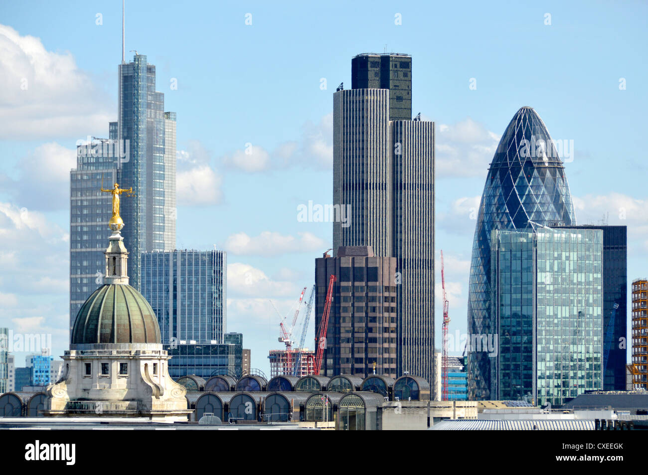 city of london skyline buildings including heron tower. Black Bedroom Furniture Sets. Home Design Ideas