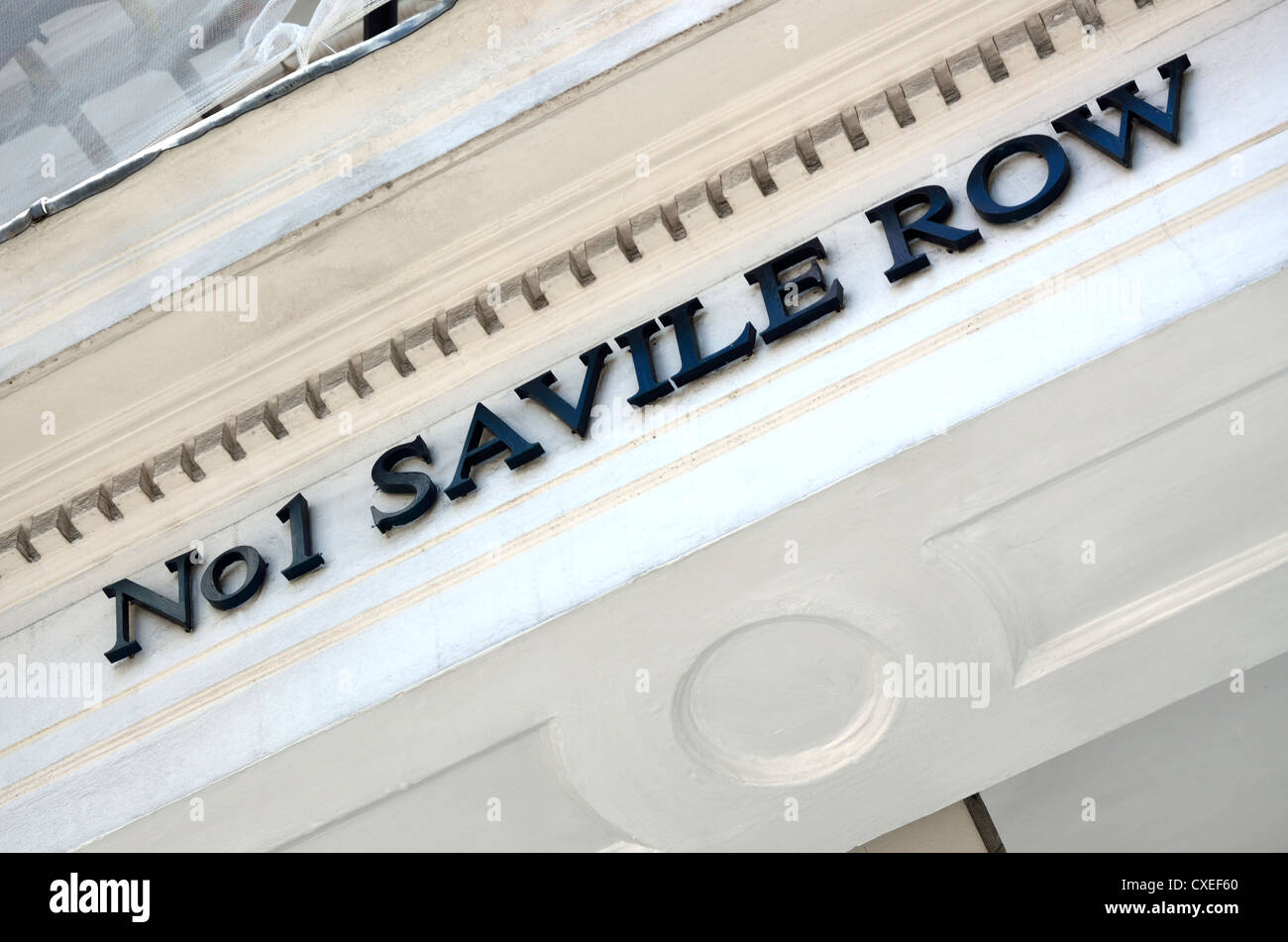 London, England, UK. No 1 Saville Row - Gieves and Hawkes shop - Stock Image