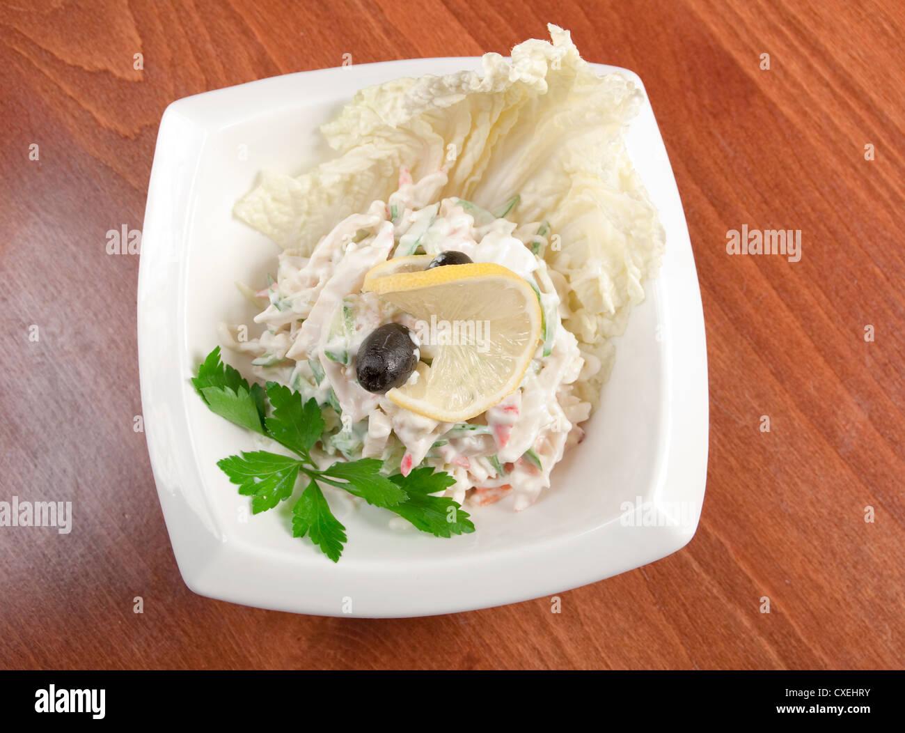 salad seafoods. - Stock Image