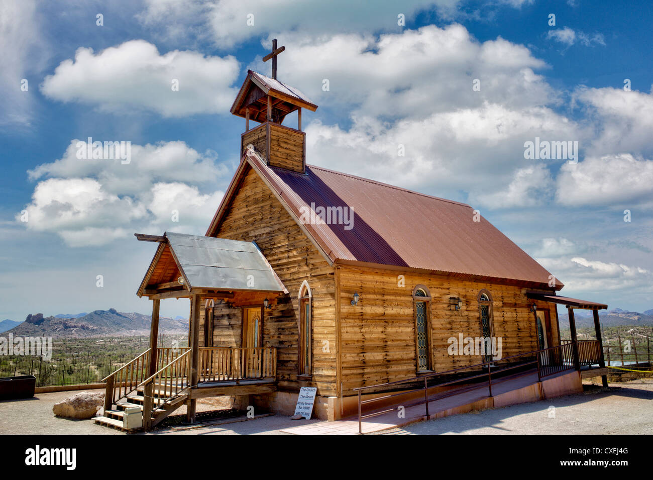New Testament Christian Church. Goldfield ghost town, Arizona. - Stock Image