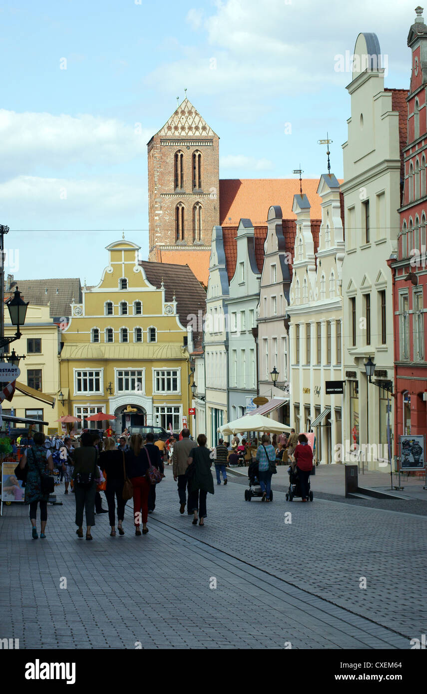 Hanseatic city Wismar - Stock Image