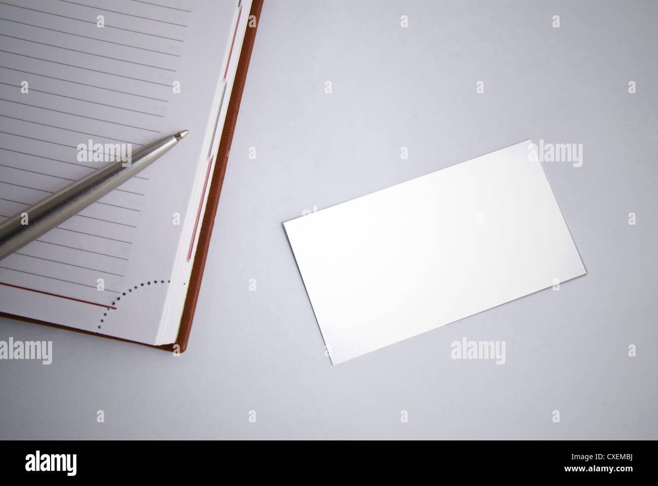 Blank Greeting Card Pen Close Up Stock Photos Blank Greeting Card