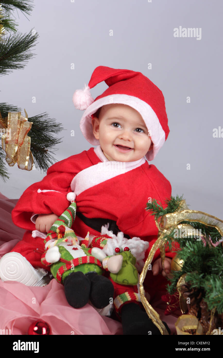 Happy Christmas Baby Boy Stock Photo 50725558 Alamy