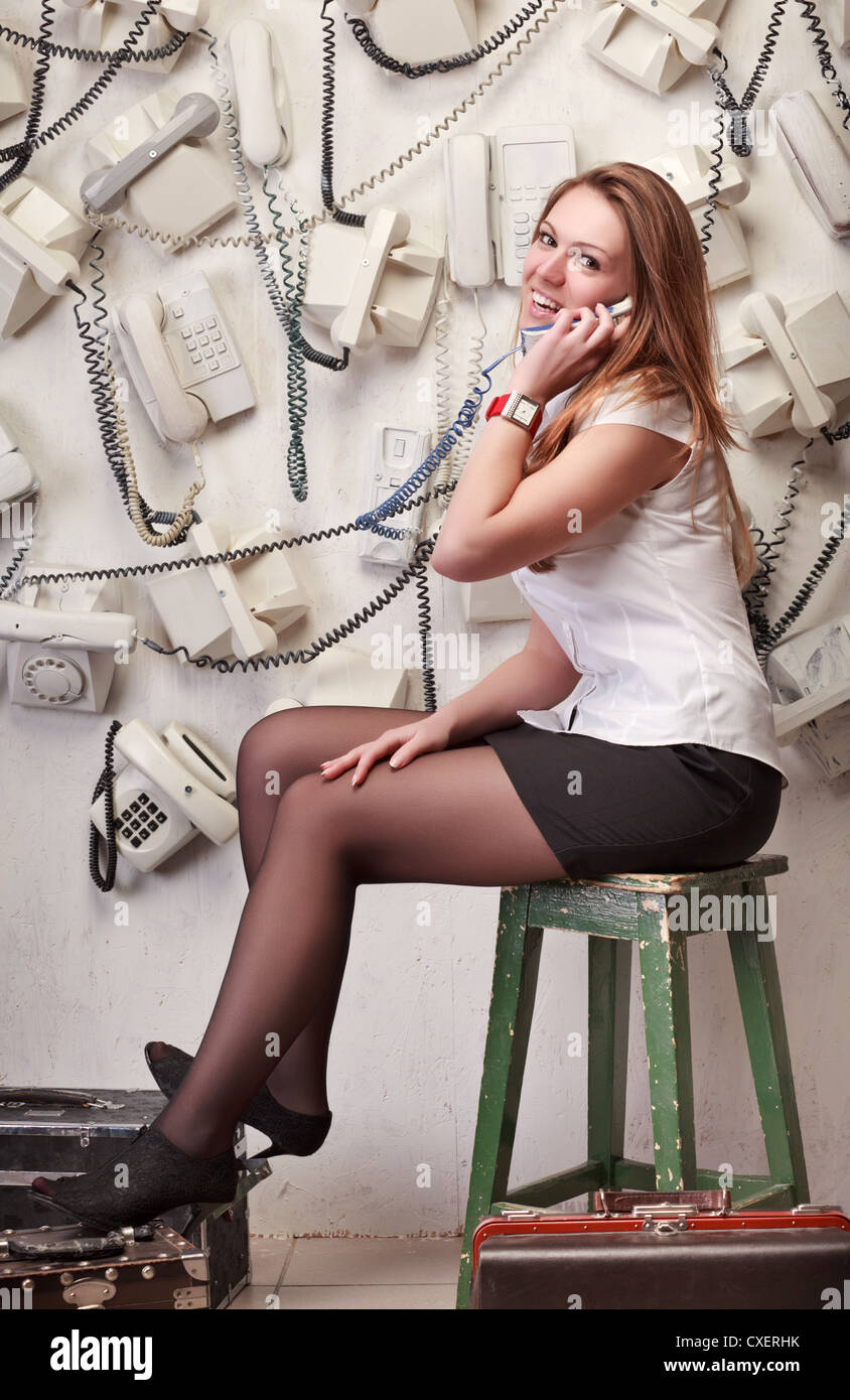 7757a39772b Woman Stockings Old Stock Photos & Woman Stockings Old Stock Images ...
