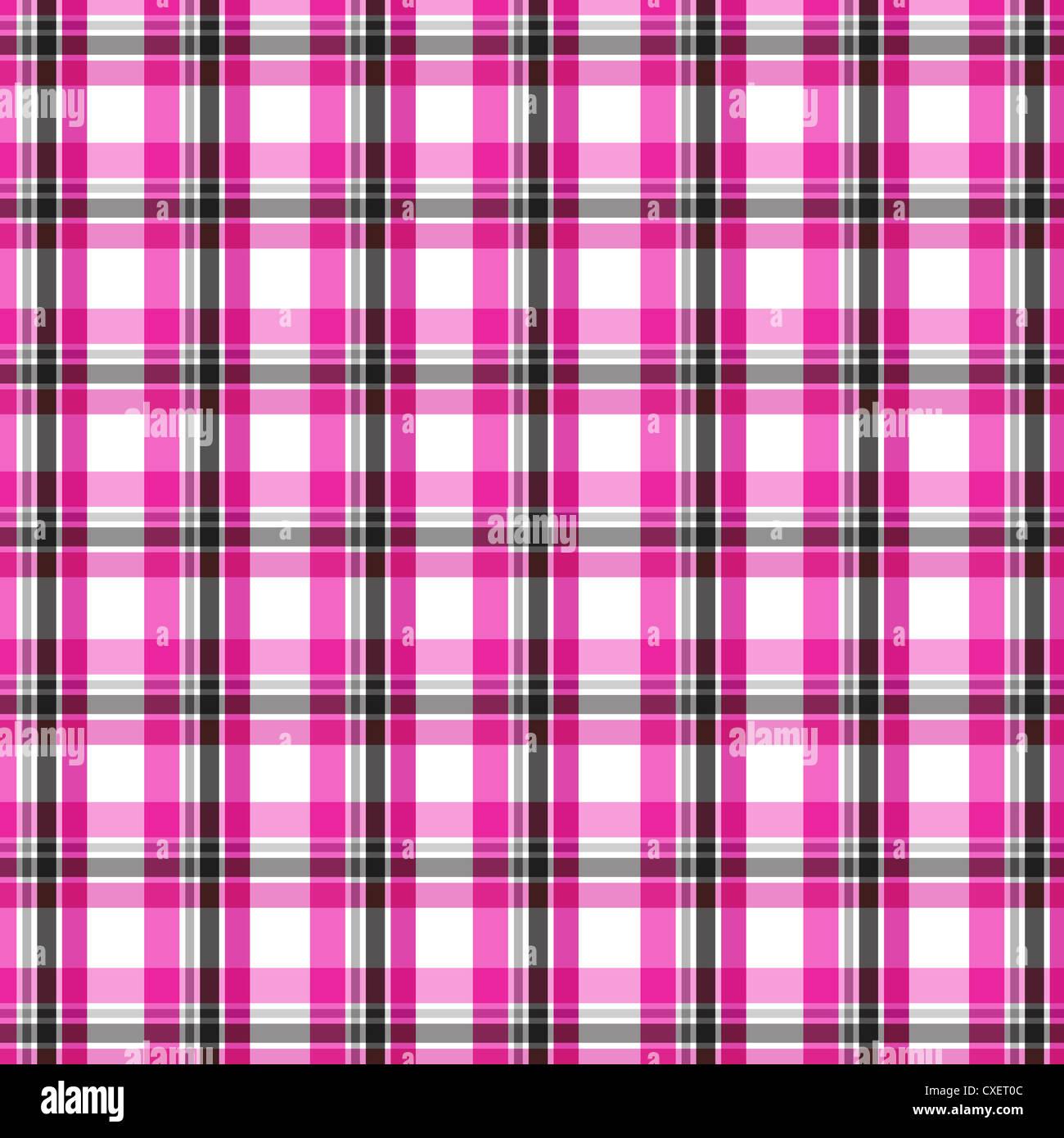 Colorful seamless plaid pattern Stock Photo