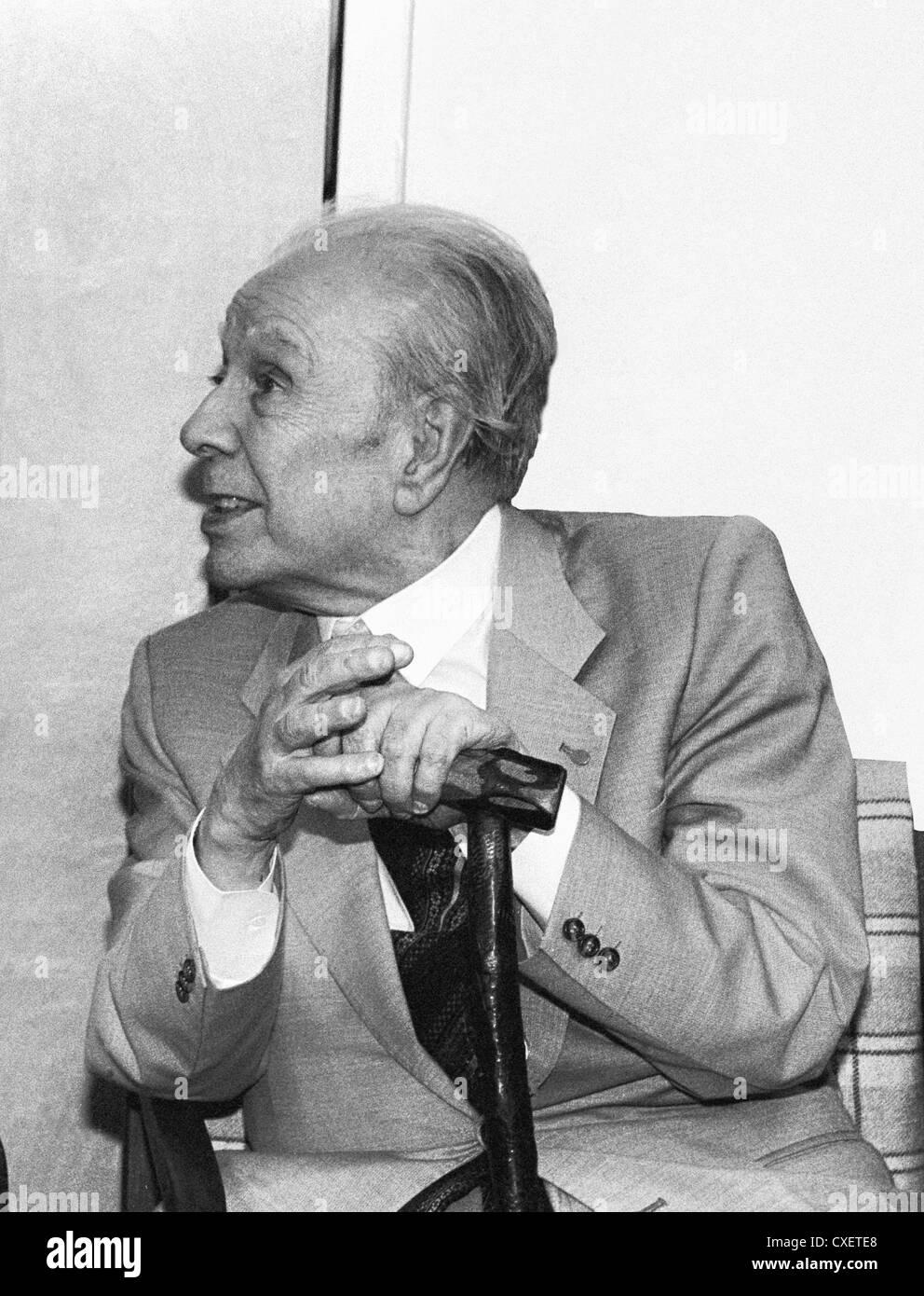 Argentine author Jorge Luis Borges - Stock Image