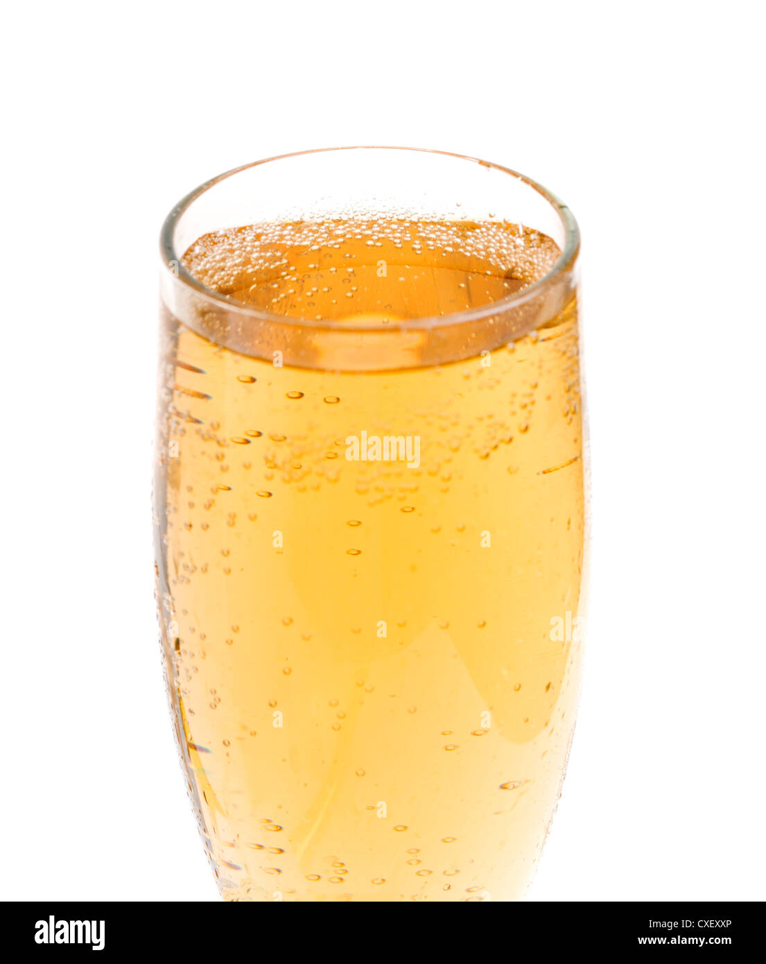 Goblet glass with champaign - Stock Image