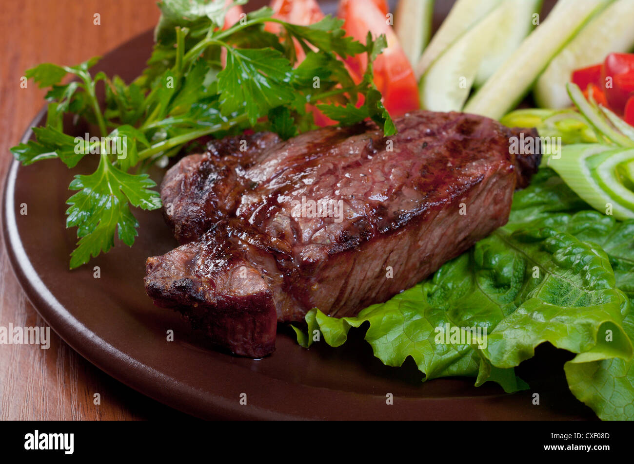 Grilled beef  - steak - Stock Image