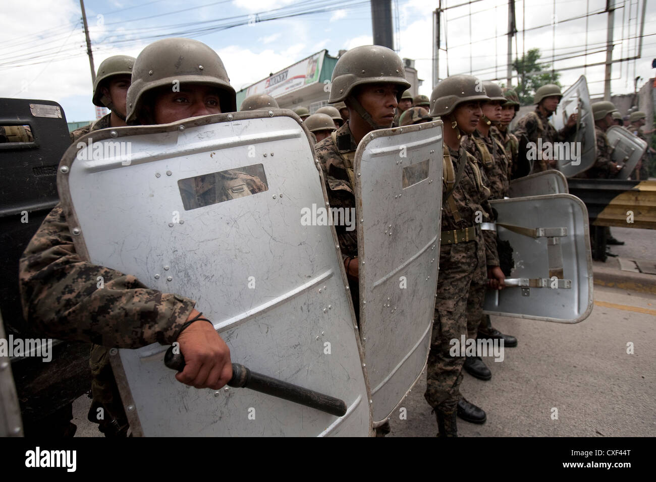 Armed forces of Honduras at the time of the 2009 Honduran political crisis Stock Photo